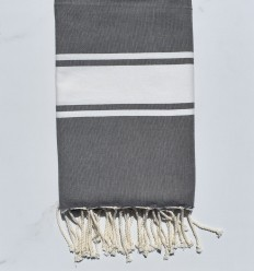 Fouta Plate gris taupe