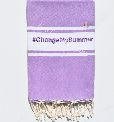Fouta violet clair personnalisée