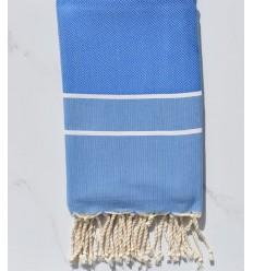 Fouta chevron bleu électrique clair