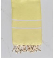 Fouta chevron jaune clair
