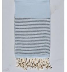 Fouta Lurex bleu azurin