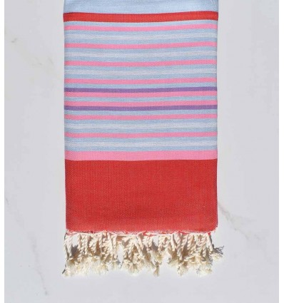 fouta 5 couleurs rouge rose clair bleu pale fouta tunisia. Black Bedroom Furniture Sets. Home Design Ideas