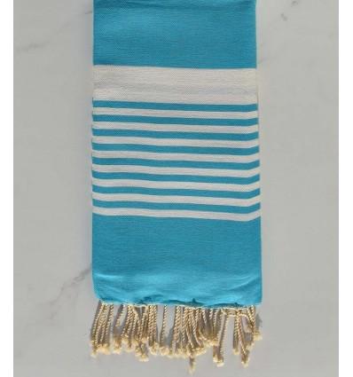 Fouta arthur bleu azur