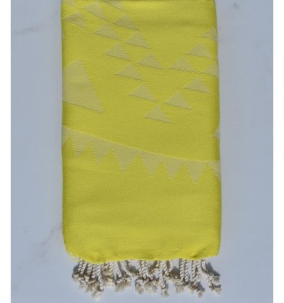 Fouta bohémian jaune citron