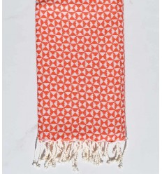 Fouta papillon orange rouge