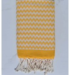 Fouta zigzar jaune orange