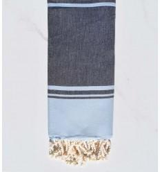 serviette de plage RAF-RAF bleu de minuit et bleu ciel
