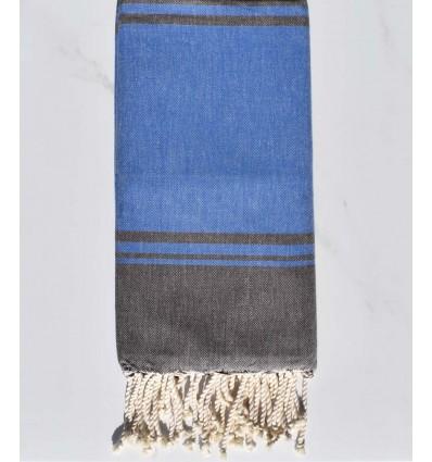 serviette de plage RAF-RAF bleu et marron
