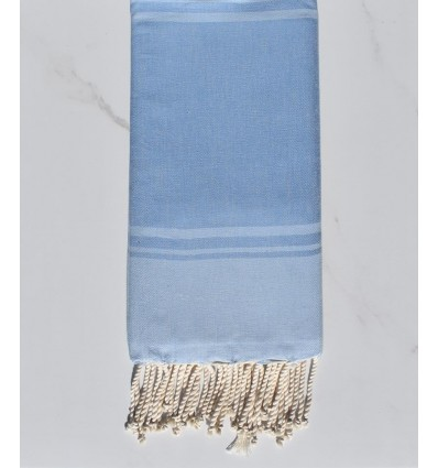 serviette de plage RAF-RAF bleu bleuet et bleu ciel