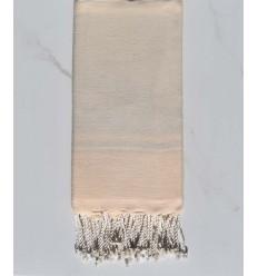 serviette de plage RAF-RAF blanc créme et bisque