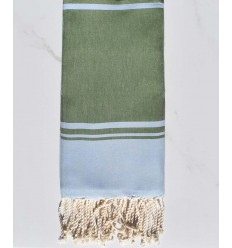 serviette de plage RAF-RAF bleu ciel et vert gazon