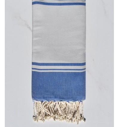 serviette de plage RAF-RAF blanc lunaire et bleu