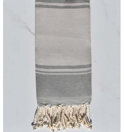serviette de plage RAF-RAF  bisque et gris