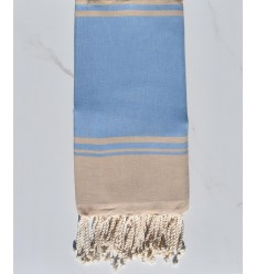 serviette de plage RAF-RAF bleu bleuet et beige