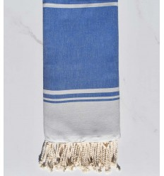 serviette de plage RAF-RAF bleu fumé et bleu bleuet