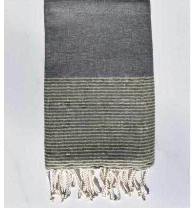 fouta plate lurex gris plomb