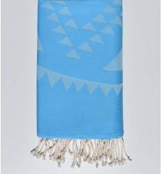 Fouta bohémian bleu clair