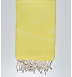 Fouta bohémian jaune chartreuse