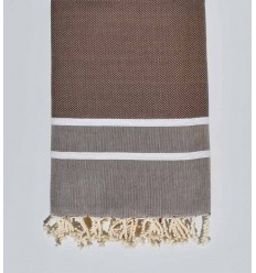 Fouta chevron marron