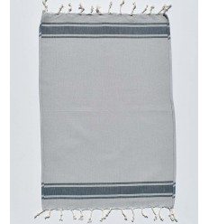 Mini fouta plate bleu gris avec rayures