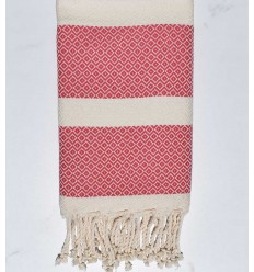 Fouta chevron rose incarnadin