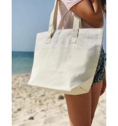 sac de plage fouta écru avec lurex argenté