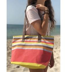 Sac de plage fouta 5 couleurs nacart clair ,gris, orange ,marron et jaune