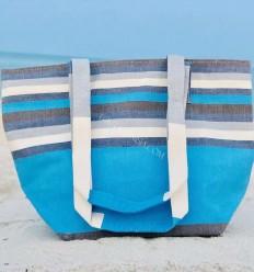 Sac de plage fouta 5 couleurs bleu ciel, blanc, gris, orange, marron et bleu jean
