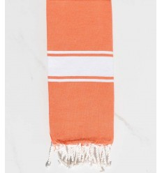 Fouta enfant couleur orange corail