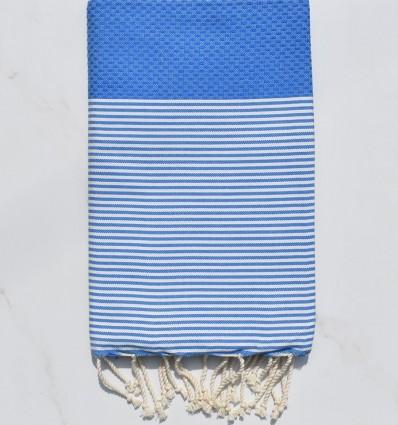 Bleu gitane rayée blanc