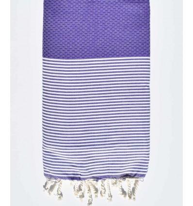 Violet rayée blanc