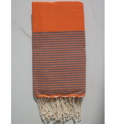 orange rayée gris