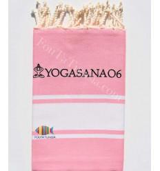 Serviette de plage brodée pour yoga