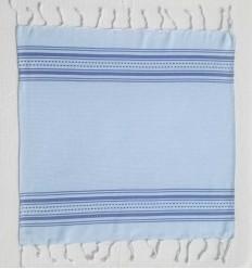 Mini fouta bleu bleuet