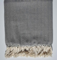 plaid gris ardoise