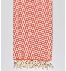 Serviette de plage papillon orange carotte