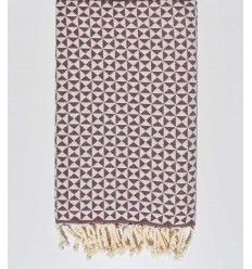 Fouta papillon bordeaux