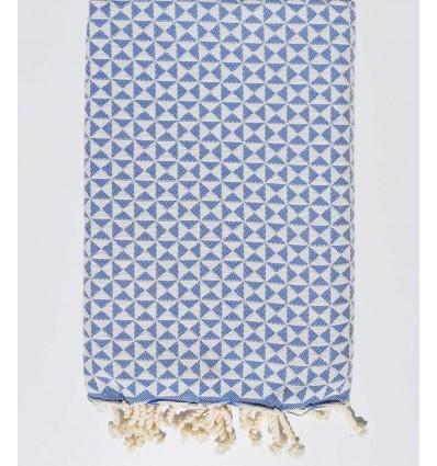 serviette de plage papillon bleu roi
